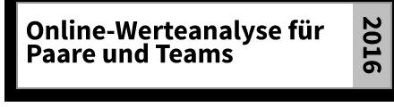 Online-Werteanalyse für Paare und Teams
